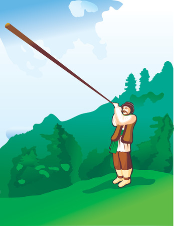 alpes suizos: m�sico ilustraci�n