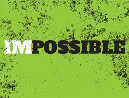 possible: Motivation Possible, vector Illustration