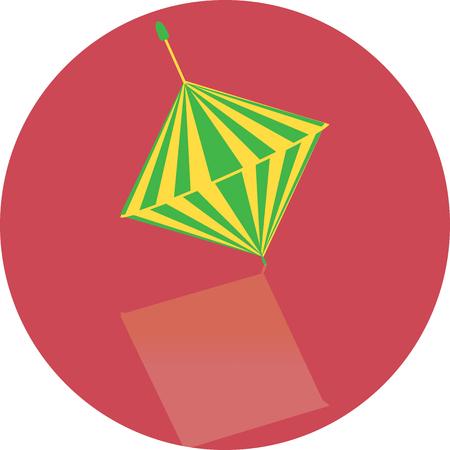 perinola: juguete icono de perinola, dise�ada a mano Vectores