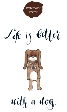 Life is better with a dog Illustration