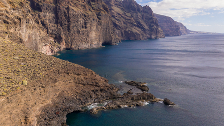Giant cliffs Los Gigantes on a coast of Tenerife Imagens