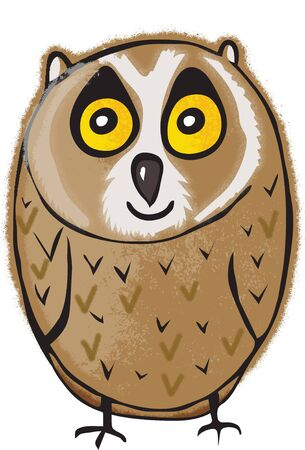 Vector of an owl design on white background, Bird. Animal. Wildlife, Easy editable layered vector illustration