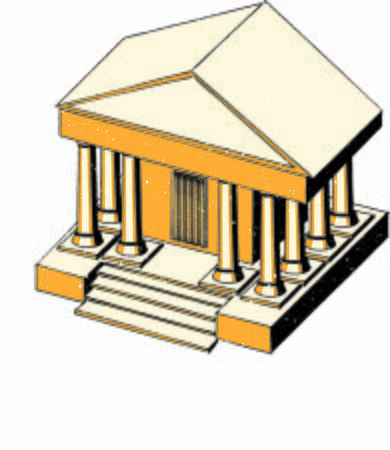 Isometric vector Illustration of bank