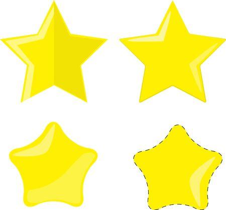 Pack Stars vector clip art  イラスト・ベクター素材