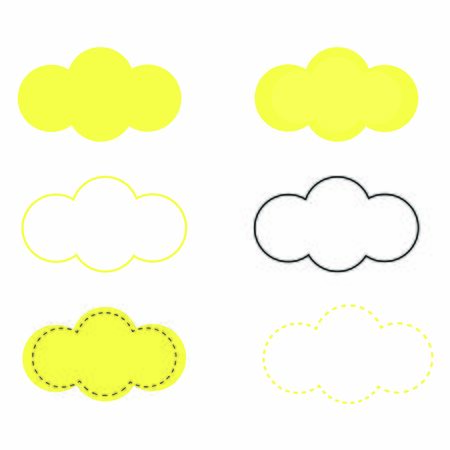 Pack clouds clipart vector