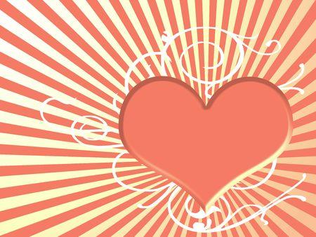 orange heart Stock Photo - 3777065