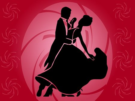 bailarines silueta: bailarines