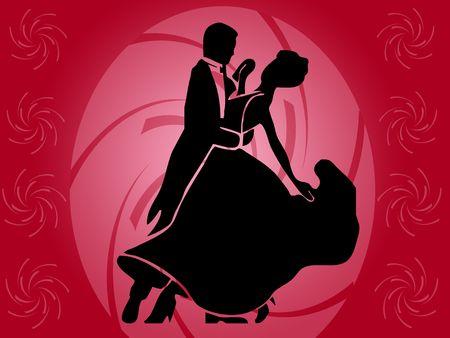 musique dance: danseurs Banque d'images