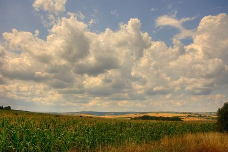 plains: agricultural plains Stock Photo