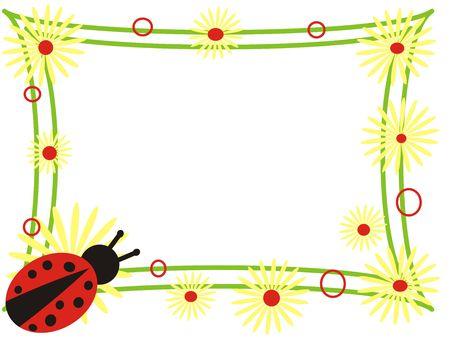 lady beetle: ladybird frame Stock Photo