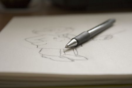 pen and image Stock Photo - 4455385