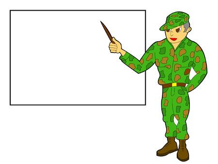 military teacher Vector