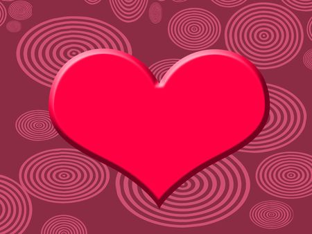 red heart on purple background Stock Photo - 4473726