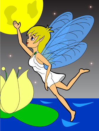 fairy flies in the night Vector