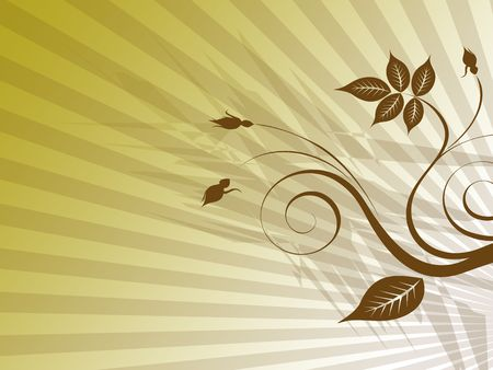 backgrund: brown flower