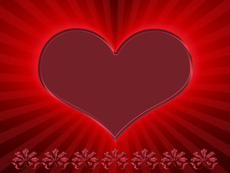 red heart Stock Photo - 6199349