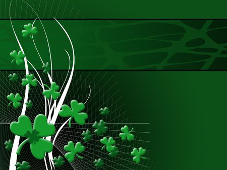 clovers: st patrick day background