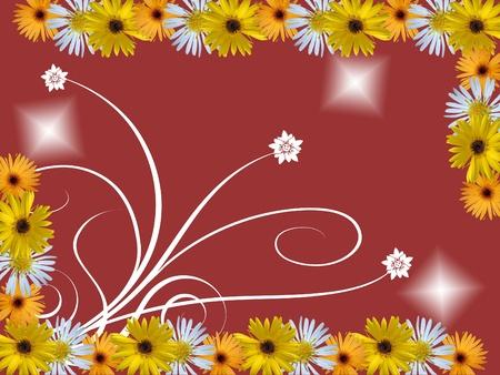 flowered: flowers frame