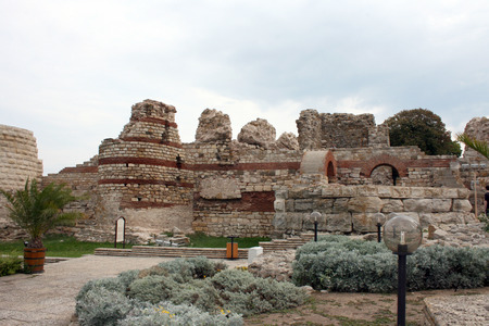 Ancient fortress in Nessebar, Bulgaria photo