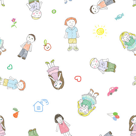 Pattern with  boys and girls
