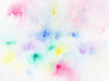 Colorful abstract watercolor painting textured on white paper background, art and design background concept