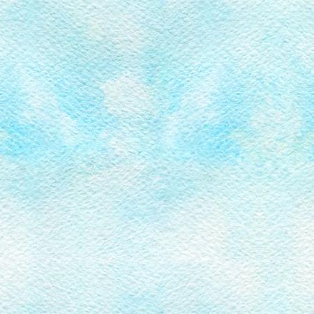 Patrón sin fisuras con textura de papel y color azul frío. Ilustración de acuarela aplicada a mano