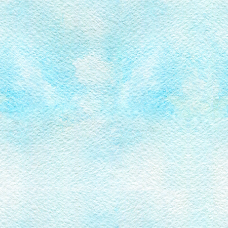 Seamless pattern with cold blue color and paper texture. Watercolor hand-applied illustration