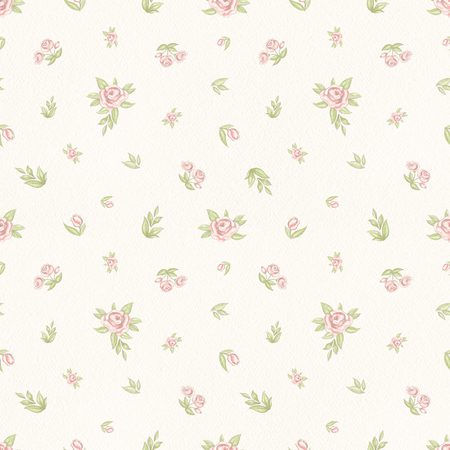 Vintage floral pattern on beige background. Hand drawn illustration