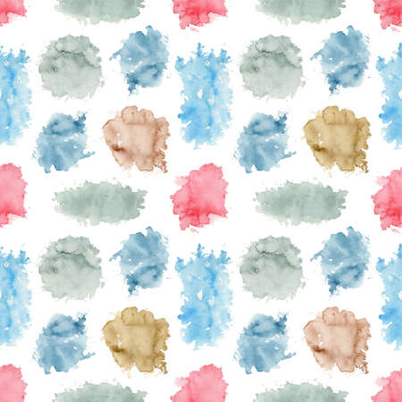 Composition with various multicolor lollipops isolated on white background. Watercolor hand drawn illustration Zdjęcie Seryjne