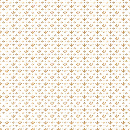 Seamless pattern with vintage beige repeating twigs with leaves isolated on white background. Watercolor hand drawn illustration sketch 版權商用圖片