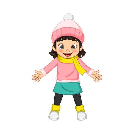Cute little girl in warm sweater