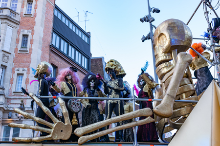 Lille, FRANCE-May 04,2019: Grand parade Eldorado lille 3000.Lille 3000 is an association of cultural program promoted by the city of Lille. Redactioneel