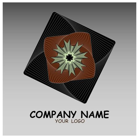 Vector illustration, abstract logo with geometric artistic lines, for companies, industry and business.