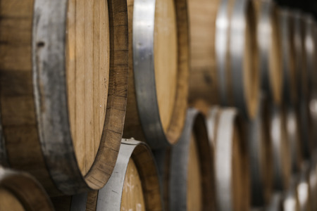 Pile of barrels Stock Photo