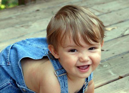 クロールの赤ちゃん 写真素材