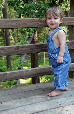 Blue Overalls Stock Photo