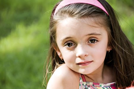 Closeup portrait of a young beautiful girl.