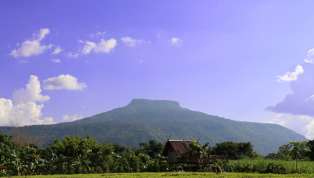 The view from the bottom landscape  of Phu Pa Por or Fuji Thailand Located in Phu Luang District, Loei Province.