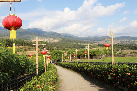 Chinese village in Yun Lai, Pai district, Banco de Imagens