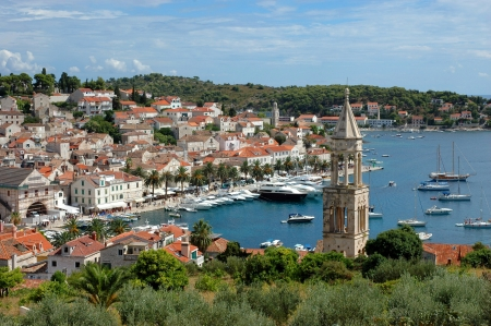 An island Hvar and its marine, Croatia photo
