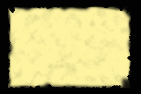 scorched: Scorched edges of an old yellowish, antique paper. Image made with Photoshop CS3