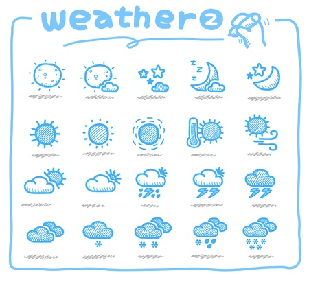 windsock: Hand drawn weather icons
