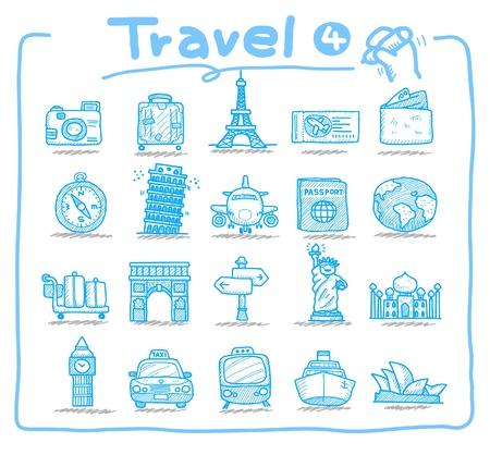 Icona della mano trafilati viaggi, vacanze, viaggio