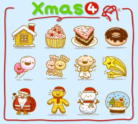 hand drawn Christmas icons Stock Vector - 9830309