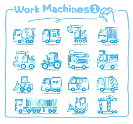 button icons: hand drawn Work Machine icons