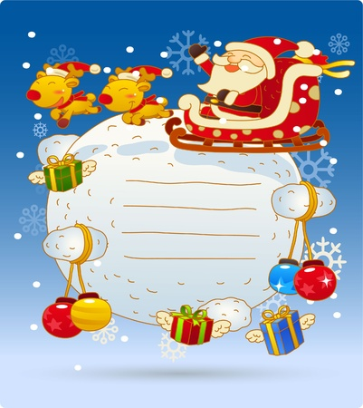Vector illustration, Christmas card, Greeting card Stock Vector - 9830347
