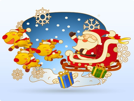 Vector illustration, Christmas card, Greeting card Stock Vector - 9830355