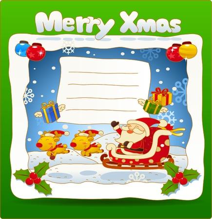 Vector illustration, Christmas card, Greeting card  Vector