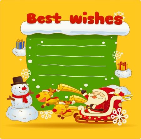 Vector illustration, Christmas card, Greeting card Stock Vector - 9830343