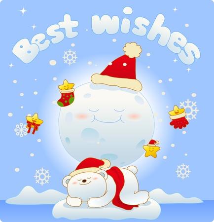 Vector illustration, Christmas card, Greeting card